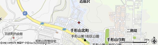 秋田県秋田市手形山北町周辺の地図