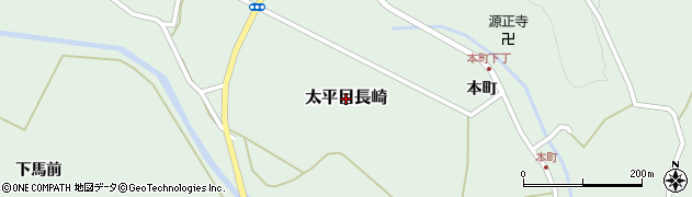 秋田県秋田市太平目長崎周辺の地図