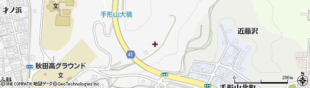 秋田県秋田市手形周辺の地図