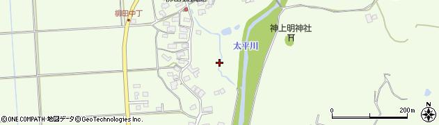 秋田県秋田市柳田周辺の地図