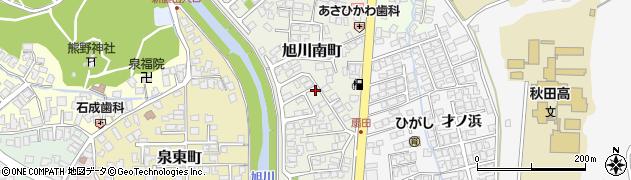 秋田県秋田市旭川南町周辺の地図