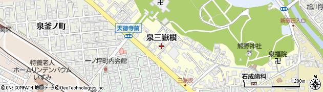 秋田県秋田市泉三嶽根周辺の地図