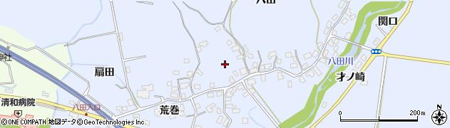 秋田県秋田市太平八田(八田)周辺の地図
