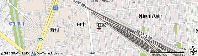 秋田県秋田市外旭川(在家)周辺の地図
