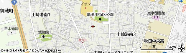 秋田県秋田市土崎港南周辺の地図