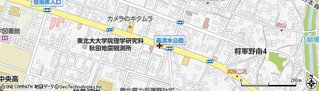 秋田県秋田市将軍野南周辺の地図