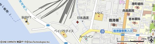 秋田県秋田市土崎港西周辺の地図