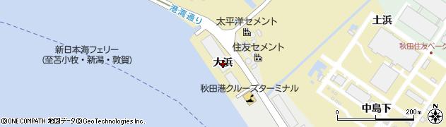 秋田県秋田市土崎港相染町(大浜)周辺の地図