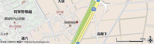 秋田県秋田市外旭川(潟堰下)周辺の地図