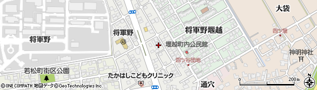 秋田県秋田市将軍野青山町周辺の地図