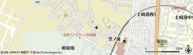秋田県秋田市土崎港相染町(中谷地)周辺の地図