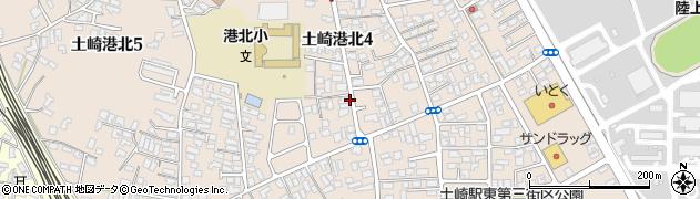 秋田県秋田市土崎港北周辺の地図