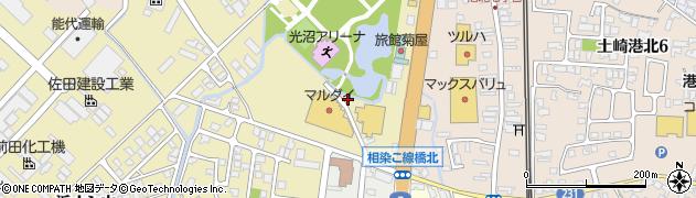 秋田県秋田市土崎港相染町(家ノ下)周辺の地図