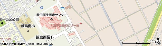 秋田県秋田市飯島(南場掛)周辺の地図