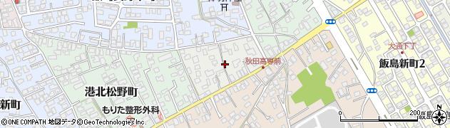 秋田県秋田市飯島長野上町周辺の地図