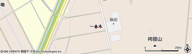 秋田県秋田市外旭川(一本木)周辺の地図