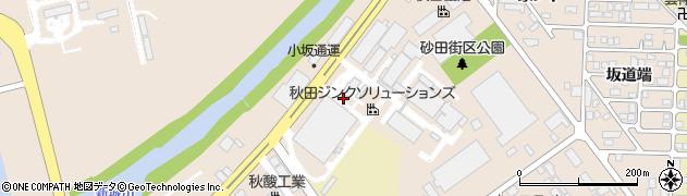 秋田県秋田市飯島(砂田)周辺の地図