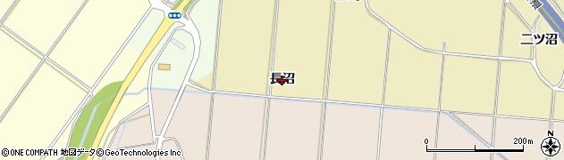 秋田県秋田市上新城道川(長沼)周辺の地図