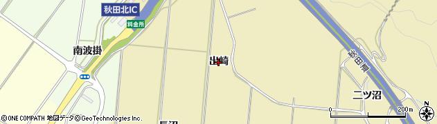 秋田県秋田市上新城道川(出崎)周辺の地図