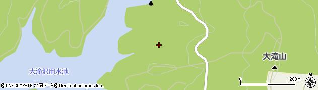 秋田県秋田市上新城道川(大滝)周辺の地図