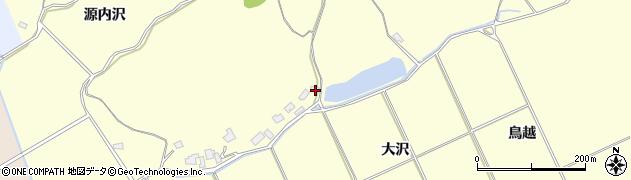秋田県秋田市下新城岩城(大沢)周辺の地図