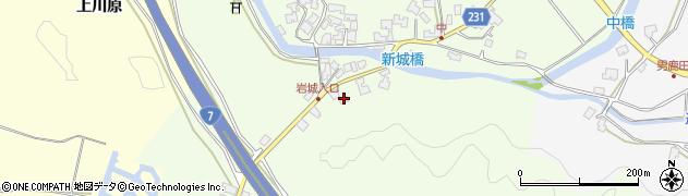 秋田県秋田市上新城中(堂ノ前)周辺の地図