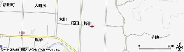 秋田県秋田市上新城五十丁(桜町)周辺の地図