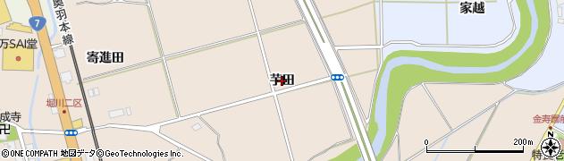 秋田県秋田市飯島(芋田)周辺の地図