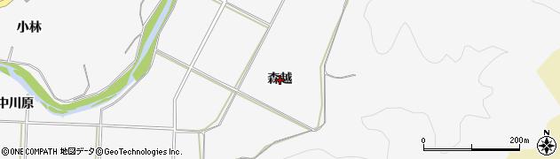 秋田県秋田市上新城五十丁(森越)周辺の地図