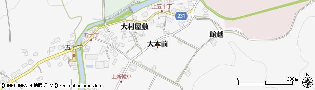 秋田県秋田市上新城五十丁(大木前)周辺の地図