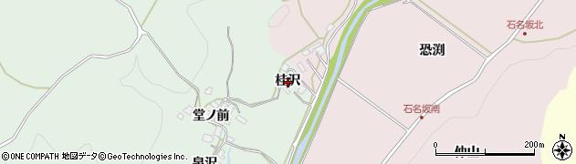 秋田県秋田市上新城石名坂(桂沢)周辺の地図