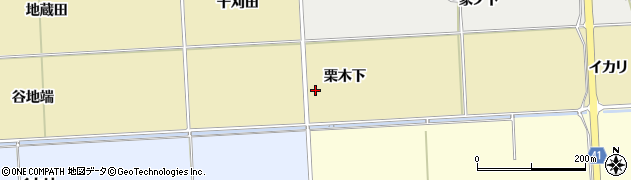 秋田県秋田市下新城青崎(栗木下)周辺の地図