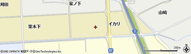 秋田県秋田市下新城青崎(イカリ)周辺の地図
