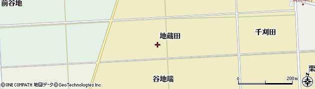 秋田県秋田市下新城青崎(地蔵田)周辺の地図