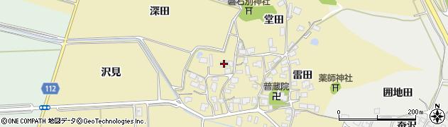 秋田県秋田市下新城青崎周辺の地図