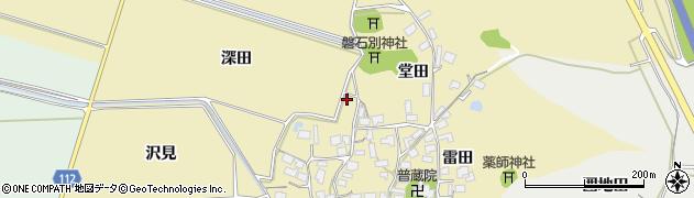 秋田県秋田市下新城青崎(深田)周辺の地図