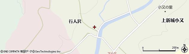 秋田県秋田市上新城小又(水上沢)周辺の地図