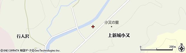 秋田県秋田市上新城小又(田中)周辺の地図