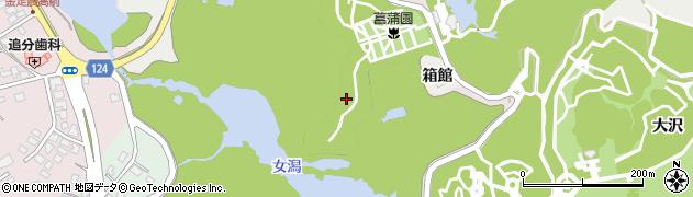 秋田県秋田市金足小泉(後谷地)周辺の地図