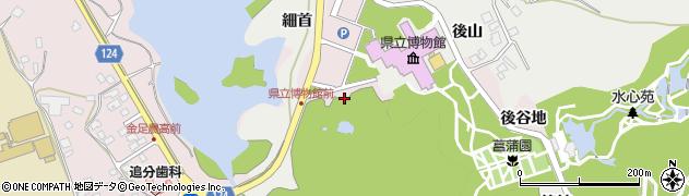 秋田県秋田市金足小泉(三草川谷地)周辺の地図