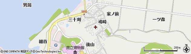 秋田県秋田市金足鳰崎(鳰崎)周辺の地図