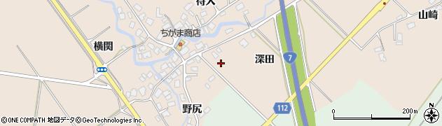 秋田県秋田市金足片田(深田)周辺の地図