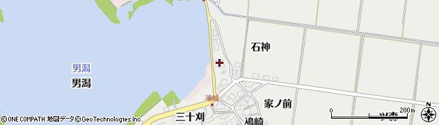 秋田県秋田市金足鳰崎(石神)周辺の地図