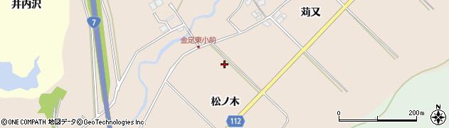 秋田県秋田市金足片田周辺の地図