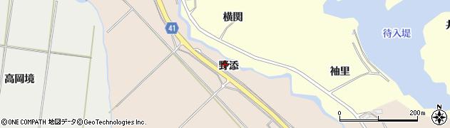 秋田県秋田市金足片田(野添)周辺の地図