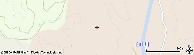 秋田県秋田市上新城白山(臼田)周辺の地図
