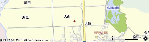 秋田県秋田市金足高岡周辺の地図