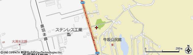 秋田県秋田市金足下刈(北野)周辺の地図