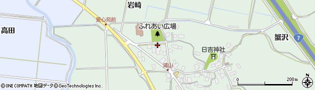 秋田県秋田市金足浦山(岩崎)周辺の地図