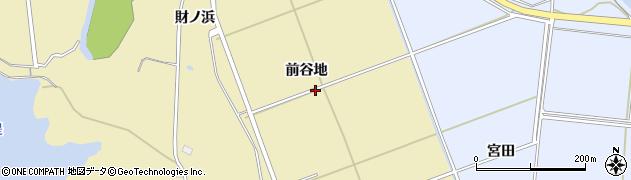 秋田県秋田市金足下刈(前谷地)周辺の地図